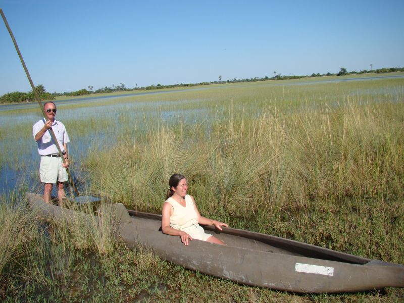 'Boating Okavango Delt'